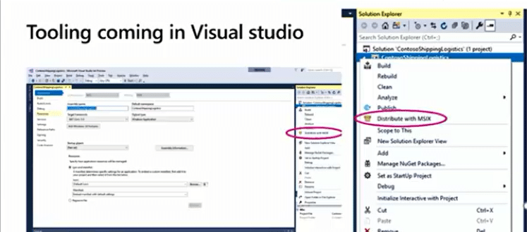 MSIX tool in Visual Studio