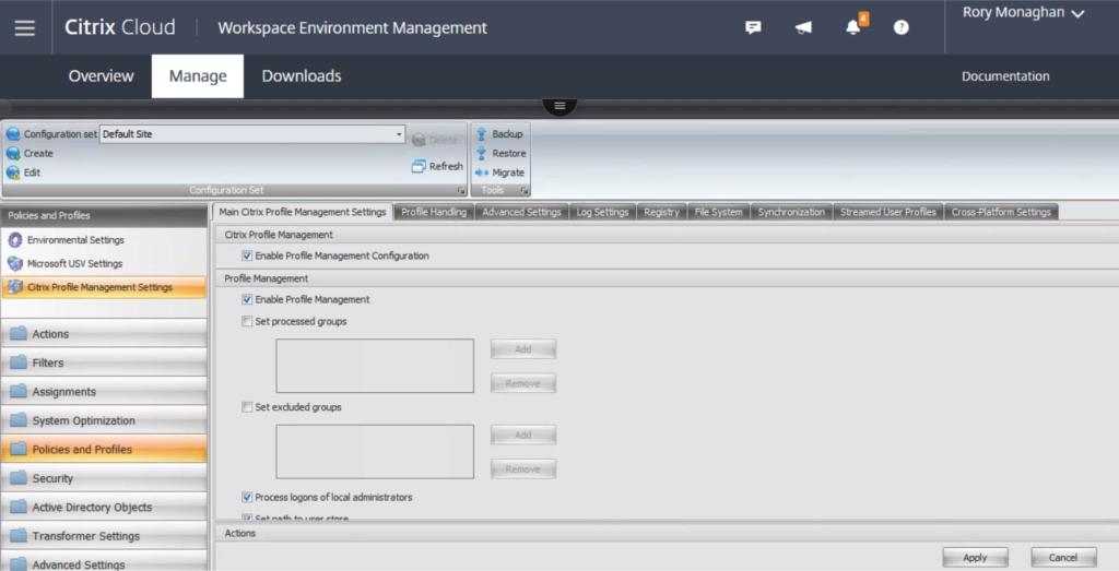 Citrix Cloud Profile Management v2