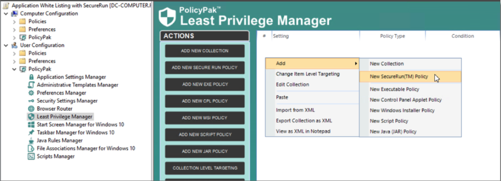 PolicyPak Least Privilege Manager